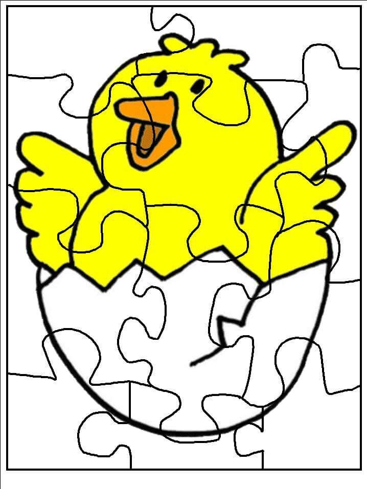 graduation coloring pages - puzzle coloring pages to print chick 1
