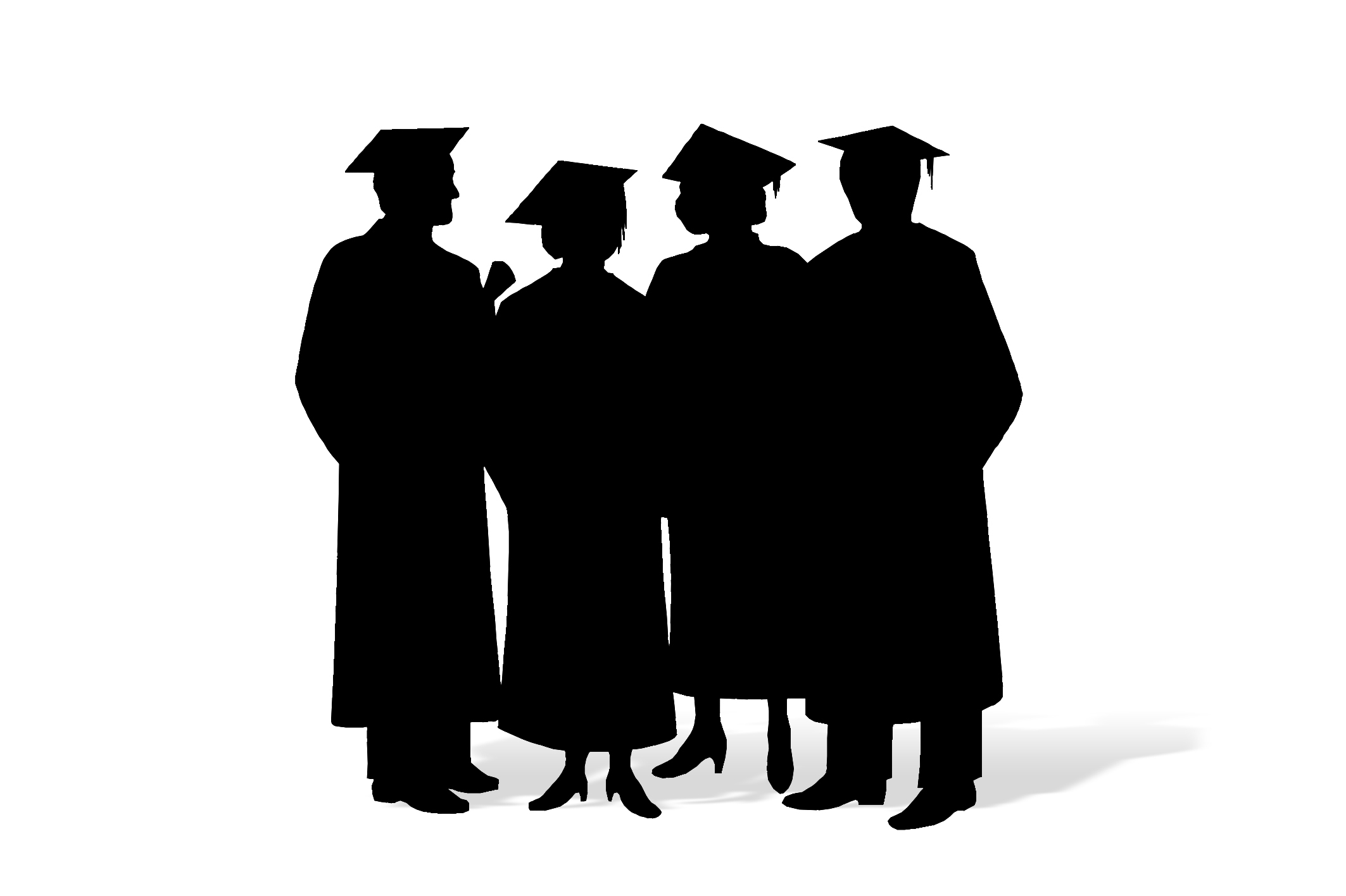 graduation coloring pages - university student clipart black and white