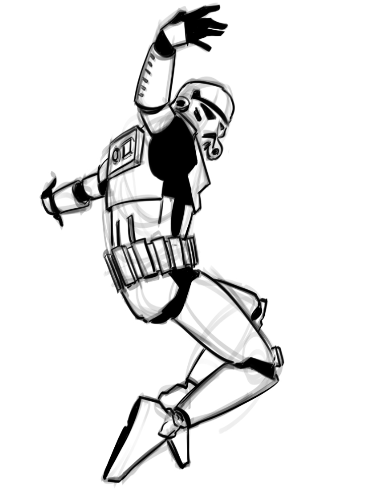 Graffiti Coloring Pages - Breakdancing Stormtrooper Art and Video — Geektyrant