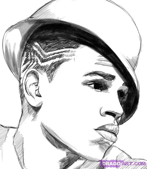 graffiti coloring pages - how to draw chris brown