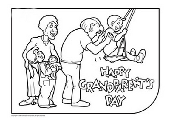 grandparents coloring pages - grandparents day coloring pages activities for kids