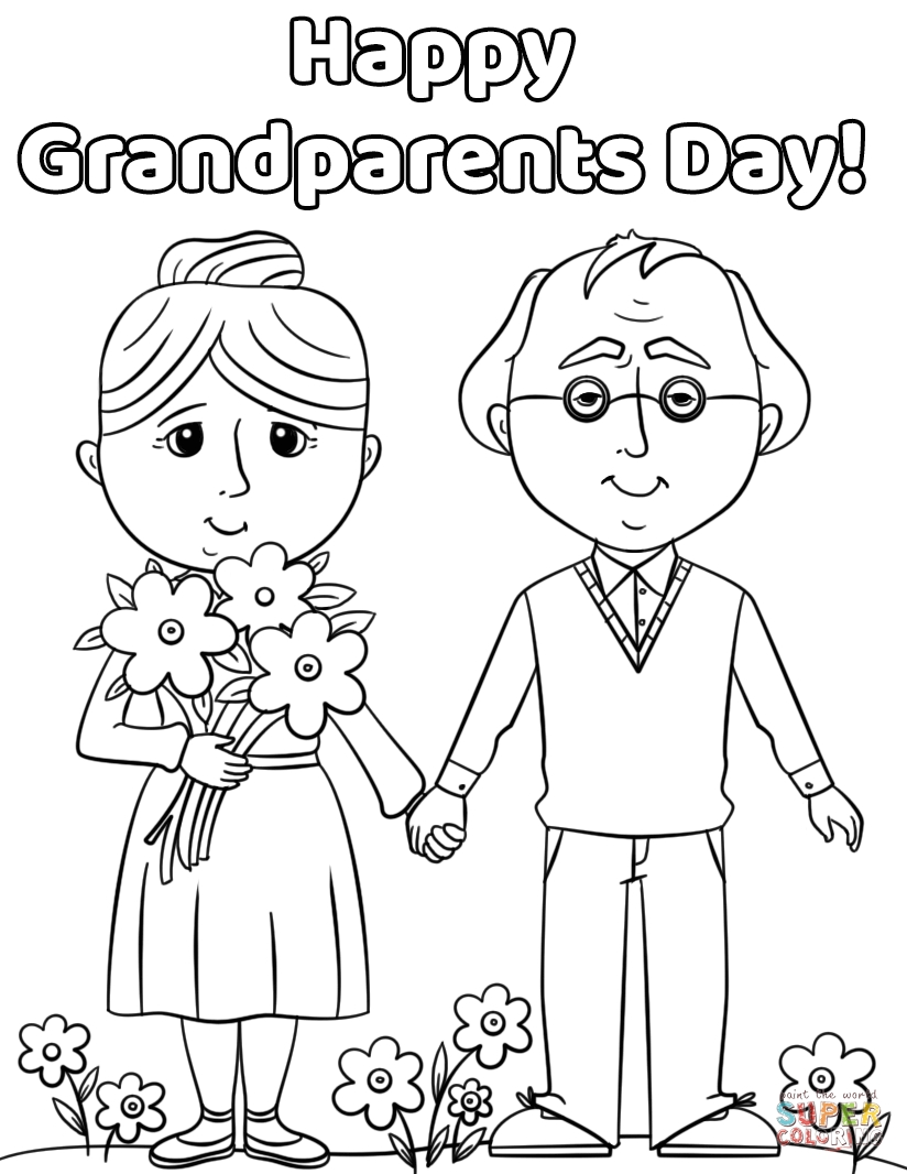 grandparents coloring pages - happy grandparents day 0