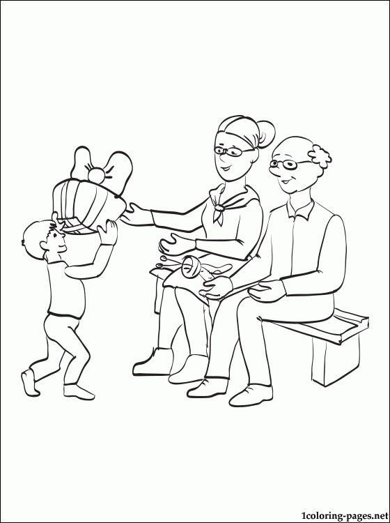 grandparents coloring pages - happy grandparents day coloring pages