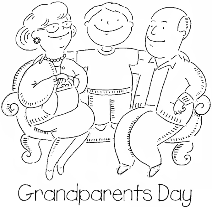 grandparents coloring pages - printable coloring sheets for grandparents day