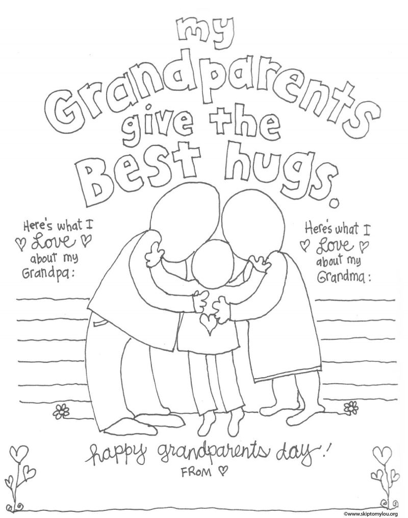 grandparents day coloring pages - grandparent coloring page