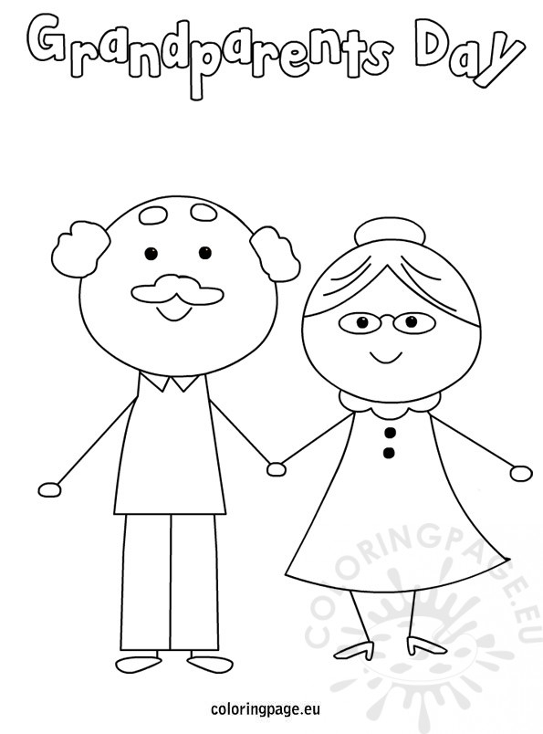 grandparents day coloring pages - grandparents day