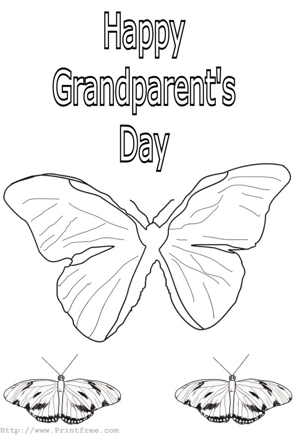 grandparents day coloring pages - grandparents day printable coloring