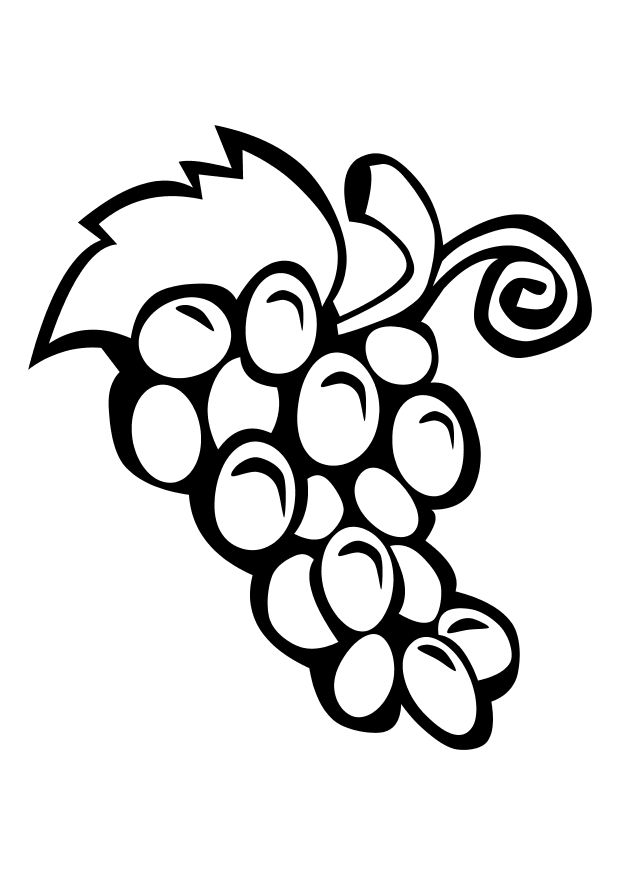 grapes coloring page - free grapes coloring pages