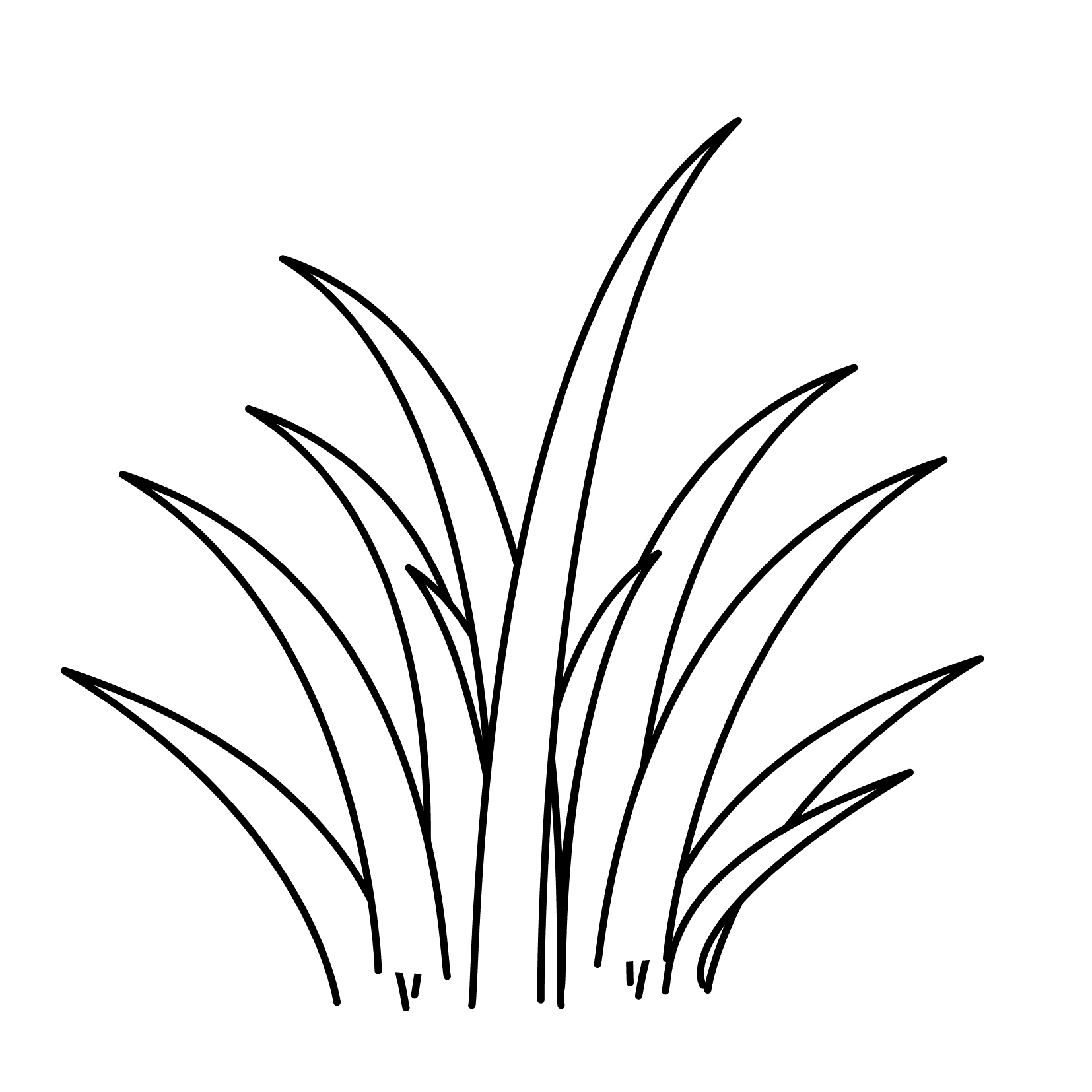 Grass Coloring Page - Pictures Of Fence and Grass to Color and Print
