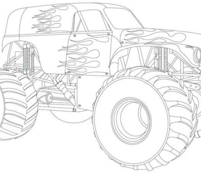 grave digger coloring pages - grave digger coloring page