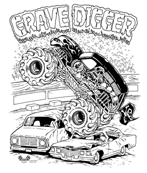 25 grave digger coloring pages compilation free coloring for Grave digger monster truck coloring pages