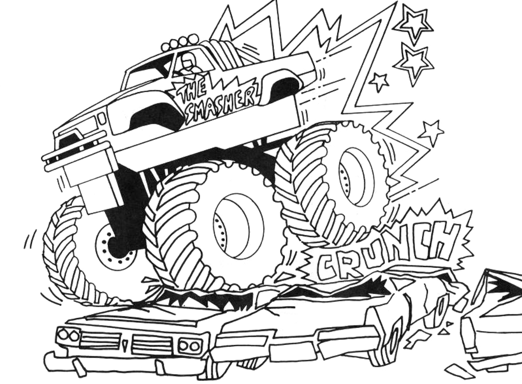 grave digger coloring pages - grave digger monster truck coloring pages