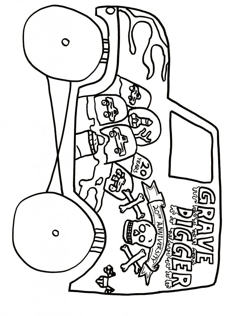 25 Grave Digger Coloring Pages Compilation | FREE COLORING PAGES ...