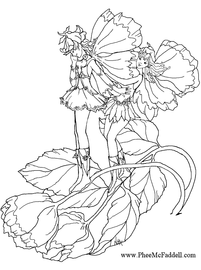 grayscale coloring pages - FairyGym
