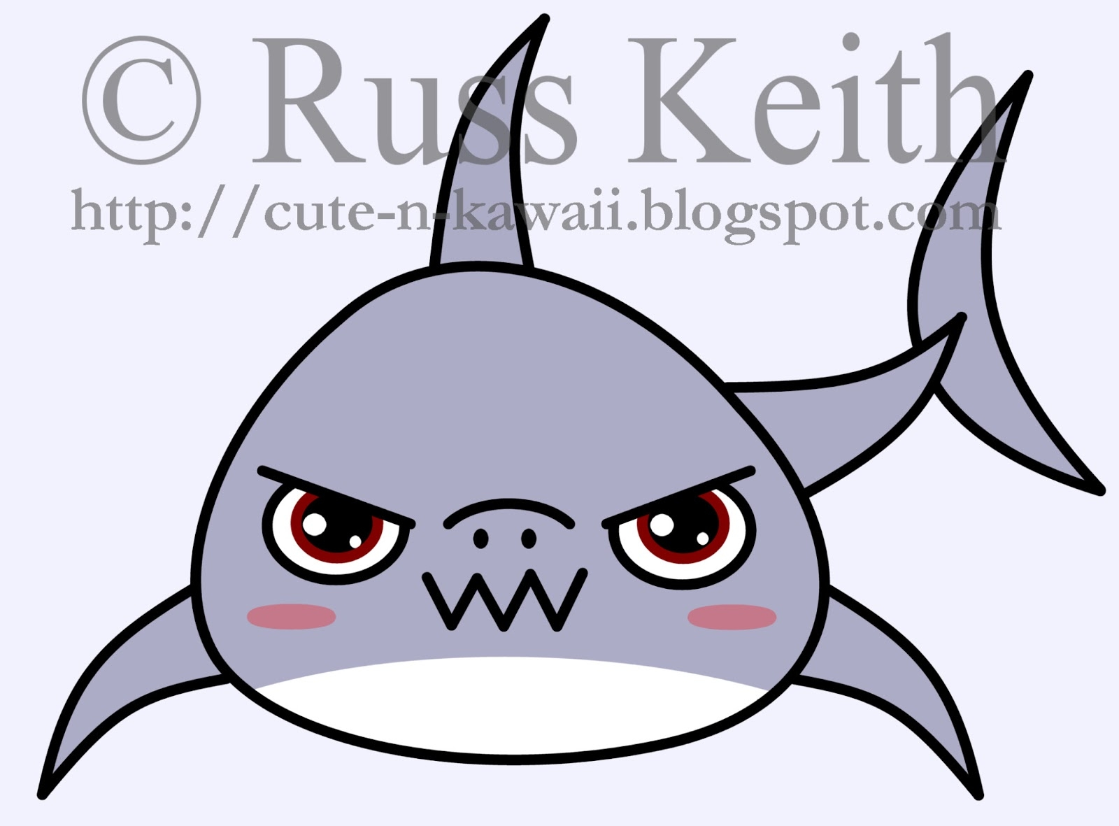 great white shark coloring pages - how to draw kawaii shark