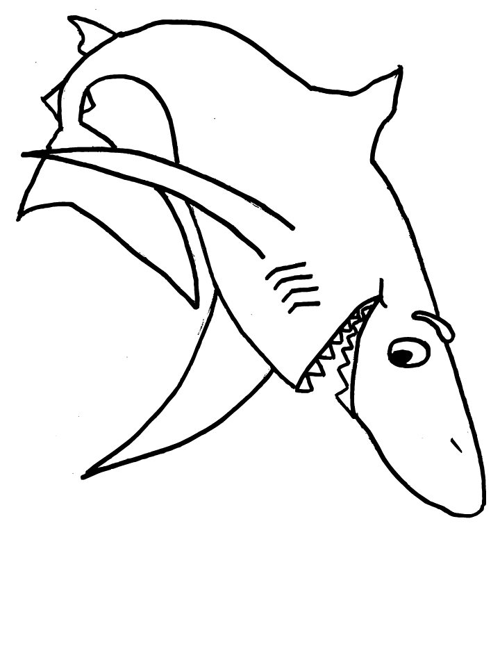 great white shark coloring pages - color