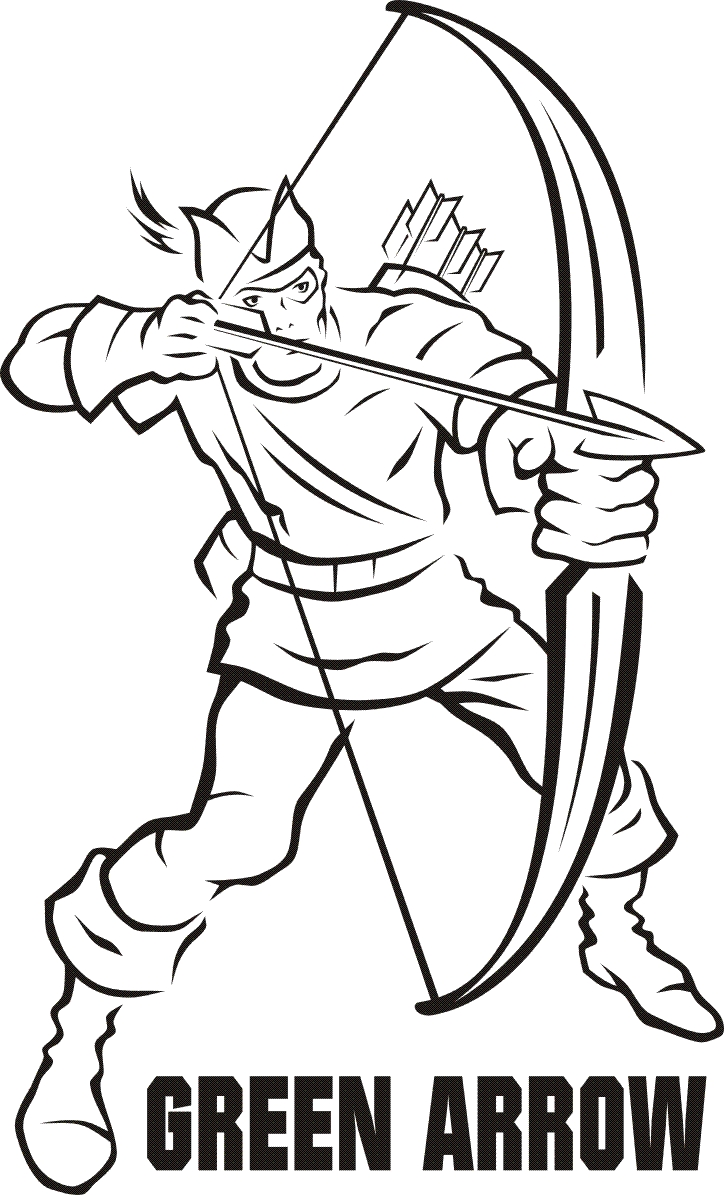 green arrow coloring pages - r=on the arrow