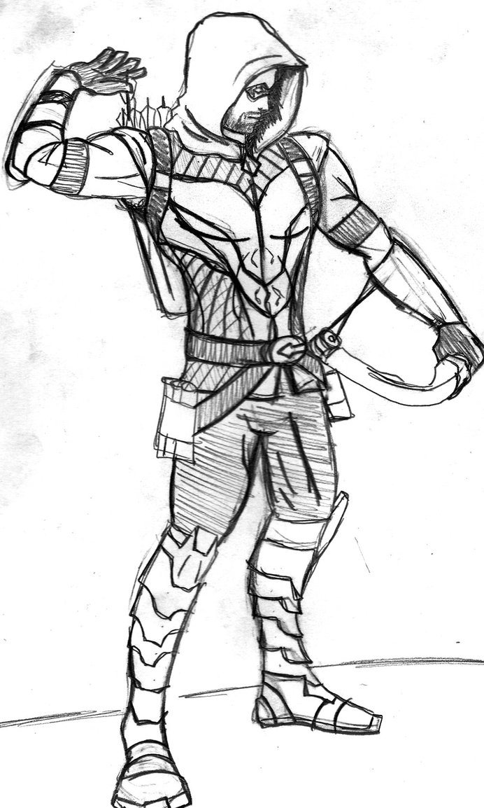 Green Arrow Coloring Pages - Green Arrow Free Coloring Pages