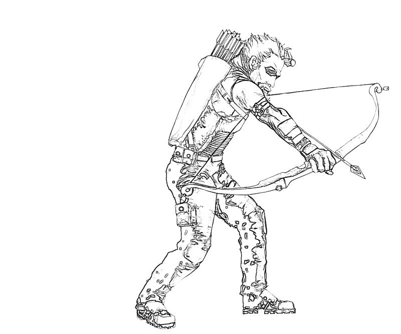 green arrow coloring pages - green arrow weapon