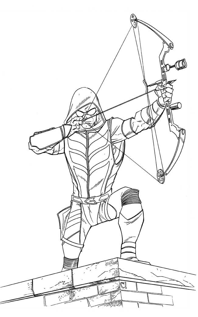 green arrow coloring pages -
