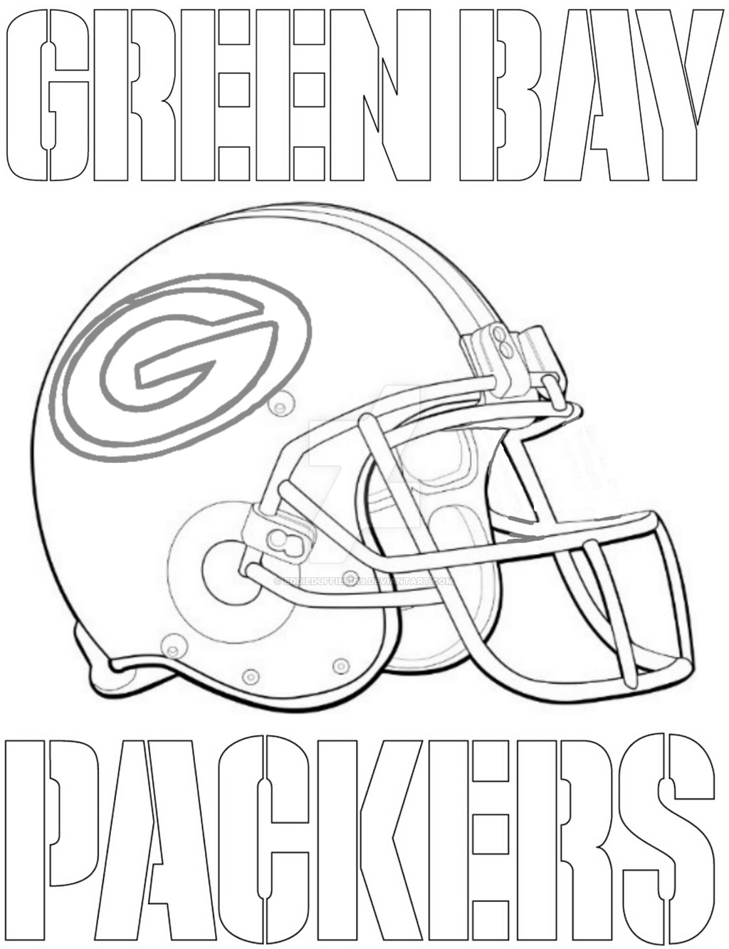 green bay packers coloring pages - coloring pages