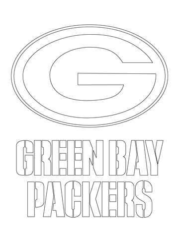 green bay packers coloring pages - green bay packers logo
