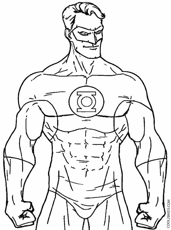 green lantern coloring pages - green lantern coloring pages