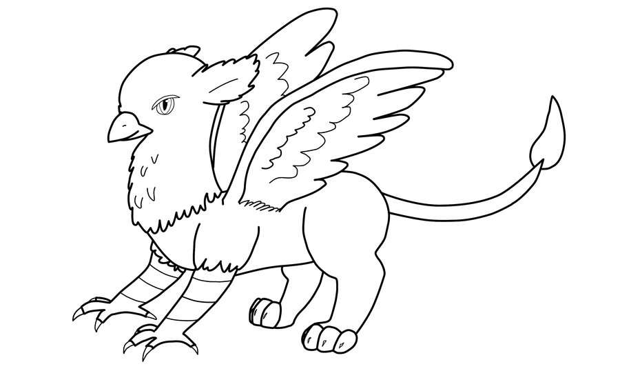 griffin coloring pages - baby griffin coloring pages coloring sketch templates