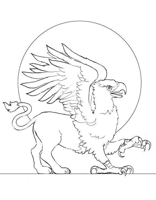 griffin coloring pages - r=cute griffin