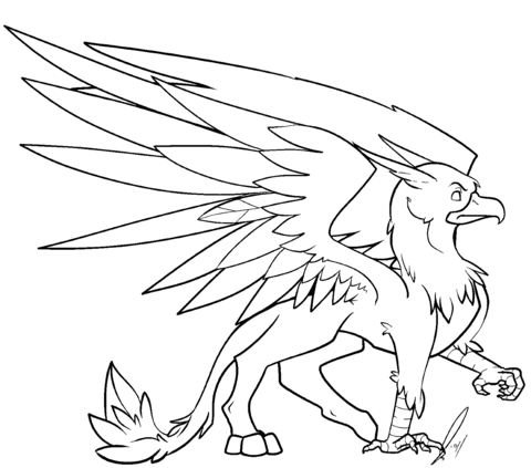 griffin coloring pages - griffin coloring sketch templates
