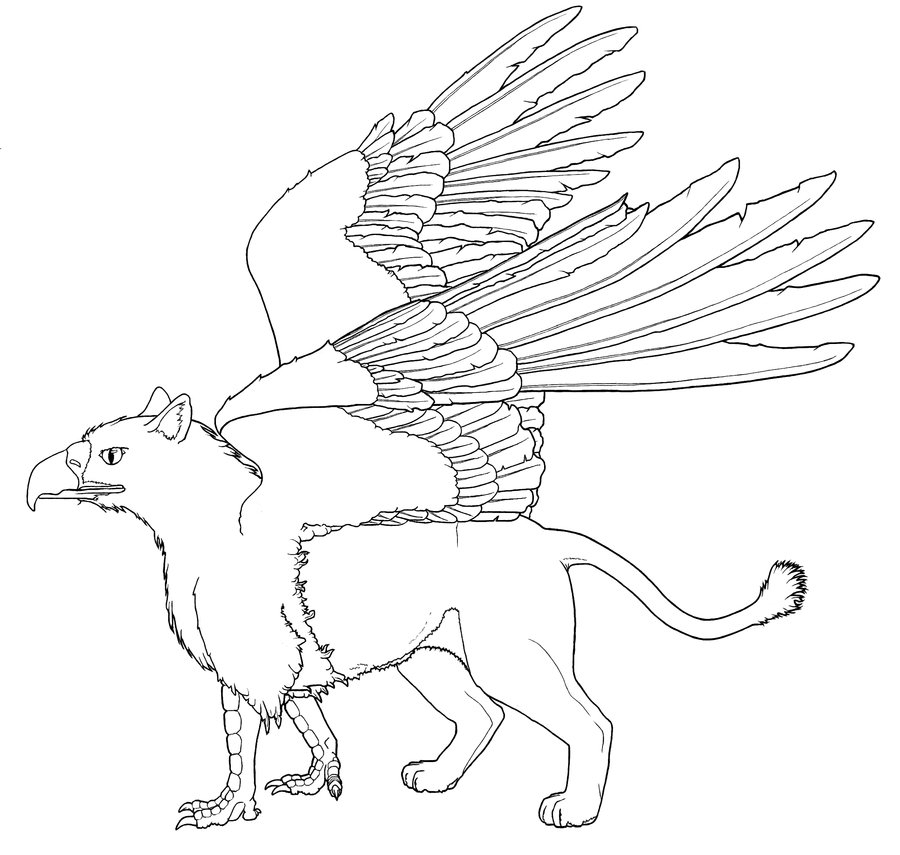 griffin coloring pages - realistic griffin coloring pages sketch templates