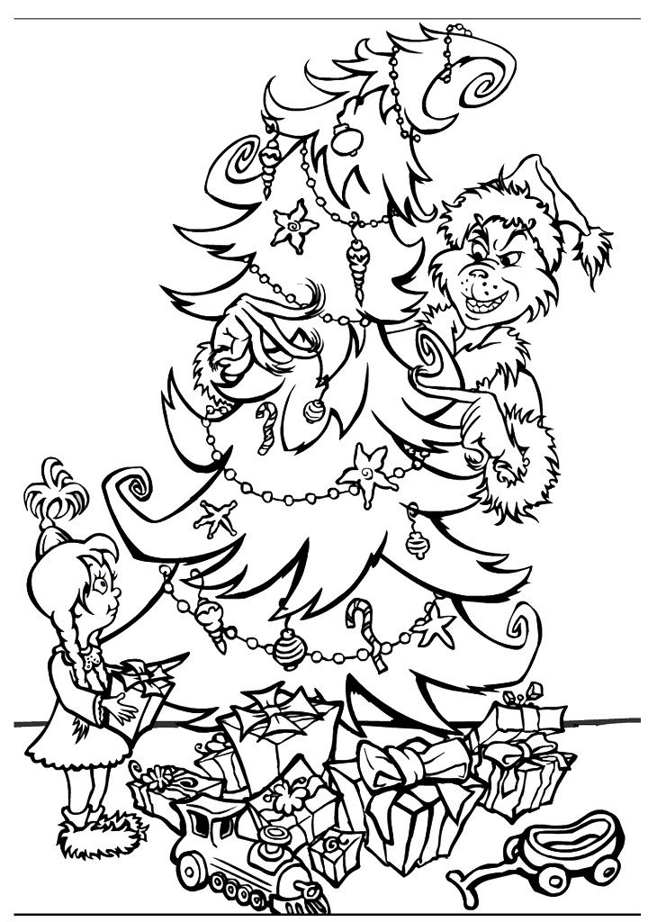 grinch coloring pages printable -