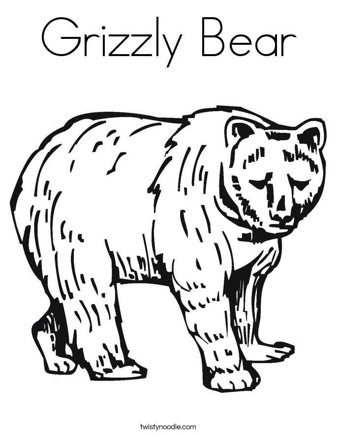 grizzly bear coloring page - grizzly bear coloring page