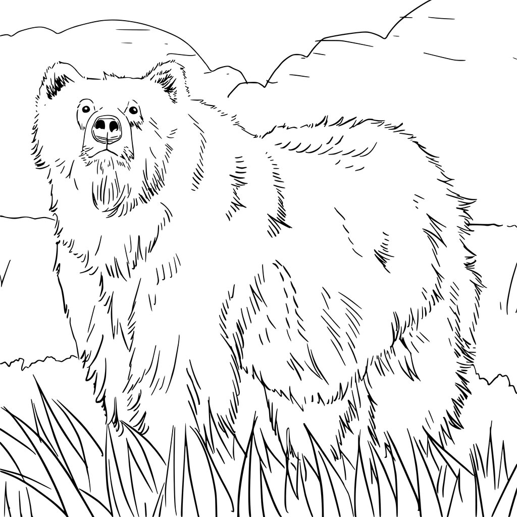 Grizzly Bear Coloring Page - Stunning Grizzly Bear Grizzly Bear Alaskan or Siberian