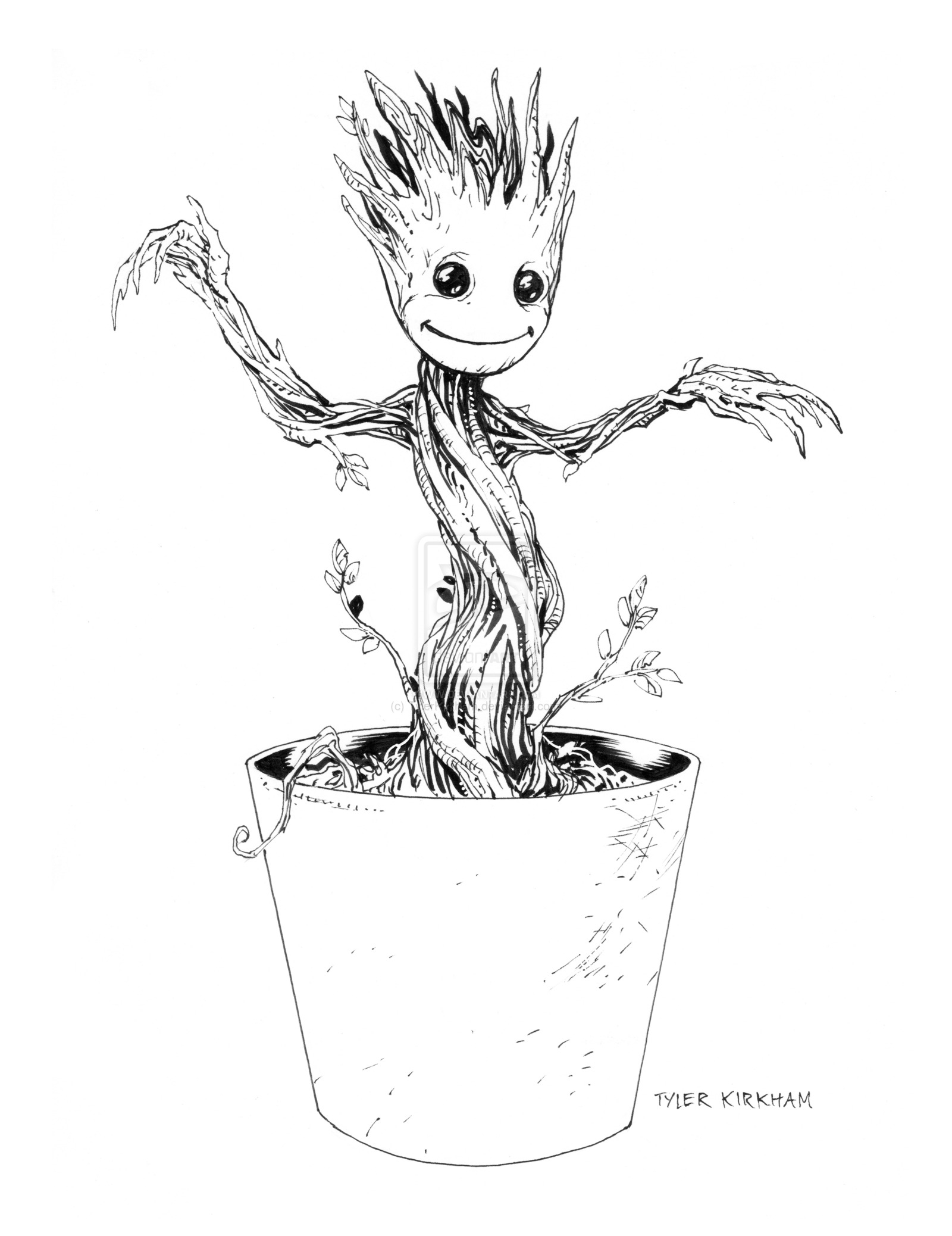 groot coloring pages - baby groot coloring pages sketch templates