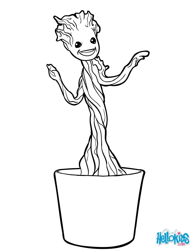 groot coloring pages - petit groot