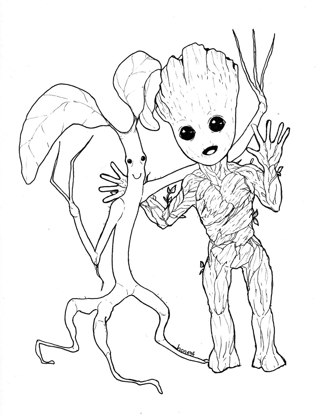 groot coloring pages - groot coloring pages sketch templates