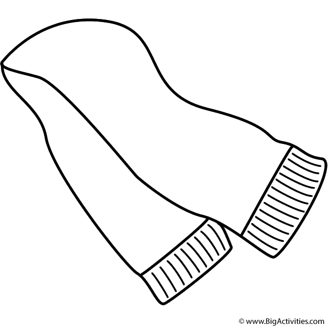 groundhog day coloring pages - scarf