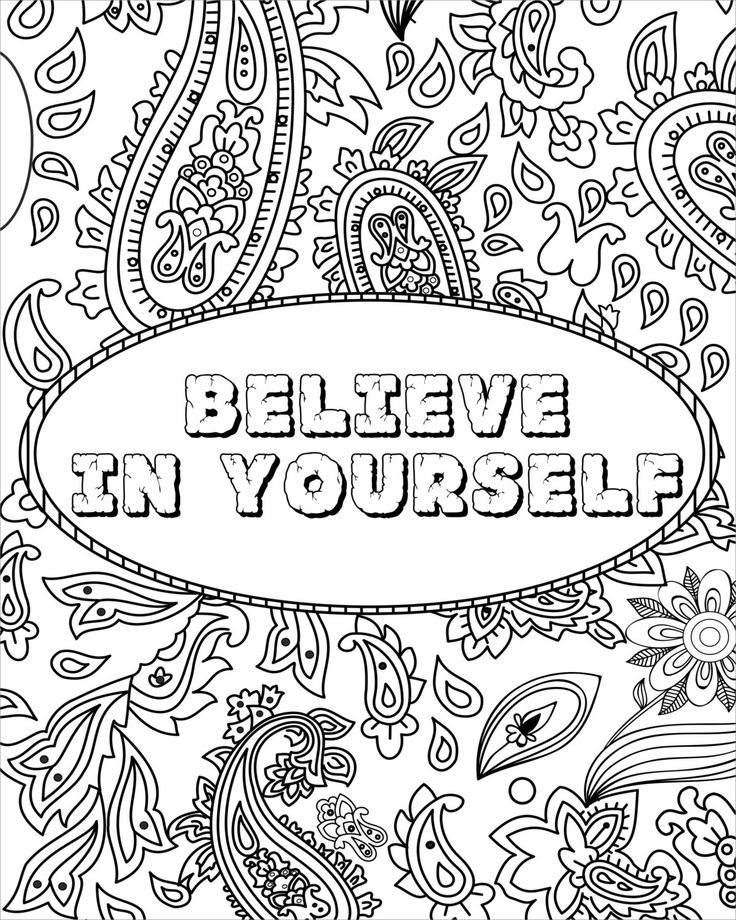 grown up coloring pages - quote colouring in