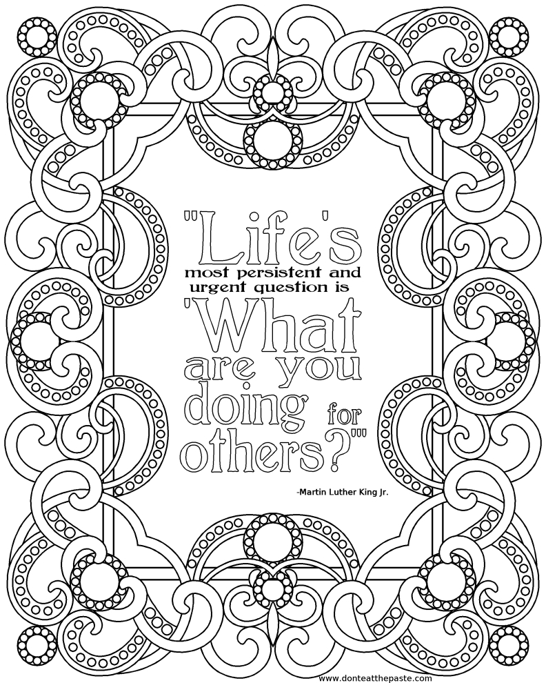 growth mindset coloring pages - inspirational quotes coloring pages