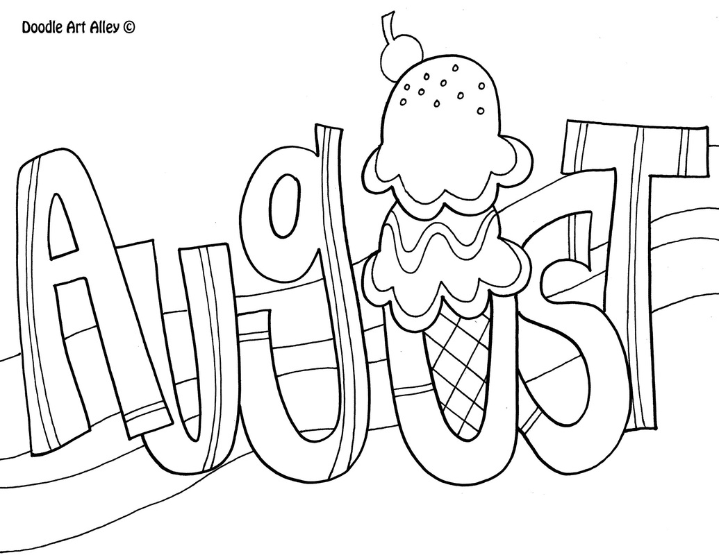 growth mindset coloring pages - months of the year