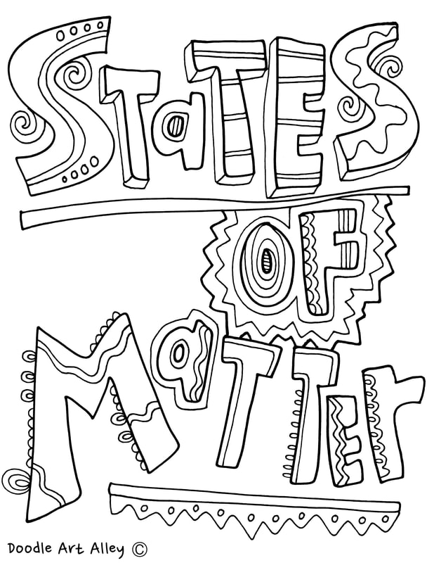 growth mindset coloring pages - states of matter