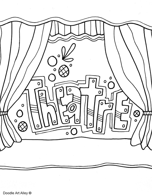 growth mindset coloring pages - the arts