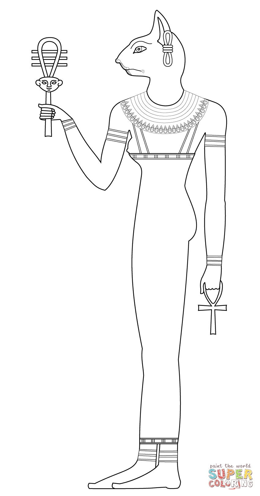 grumpy cat coloring pages - bastet