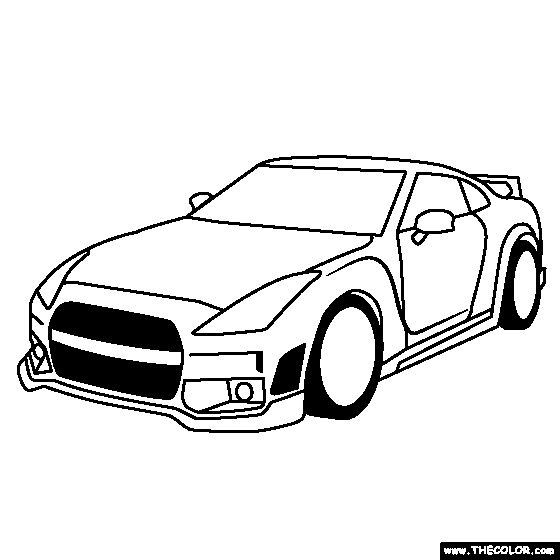 Nissan Gtr Coloring Page Nissan Gt Auto Electrical Wiring Diagram