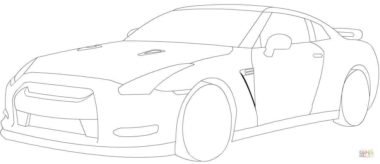 gtr coloring pages - nissan gtr