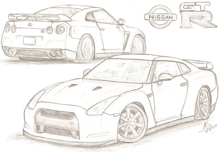 Gtr Coloring Pages - Nissan Gtr Free Colouring Pages