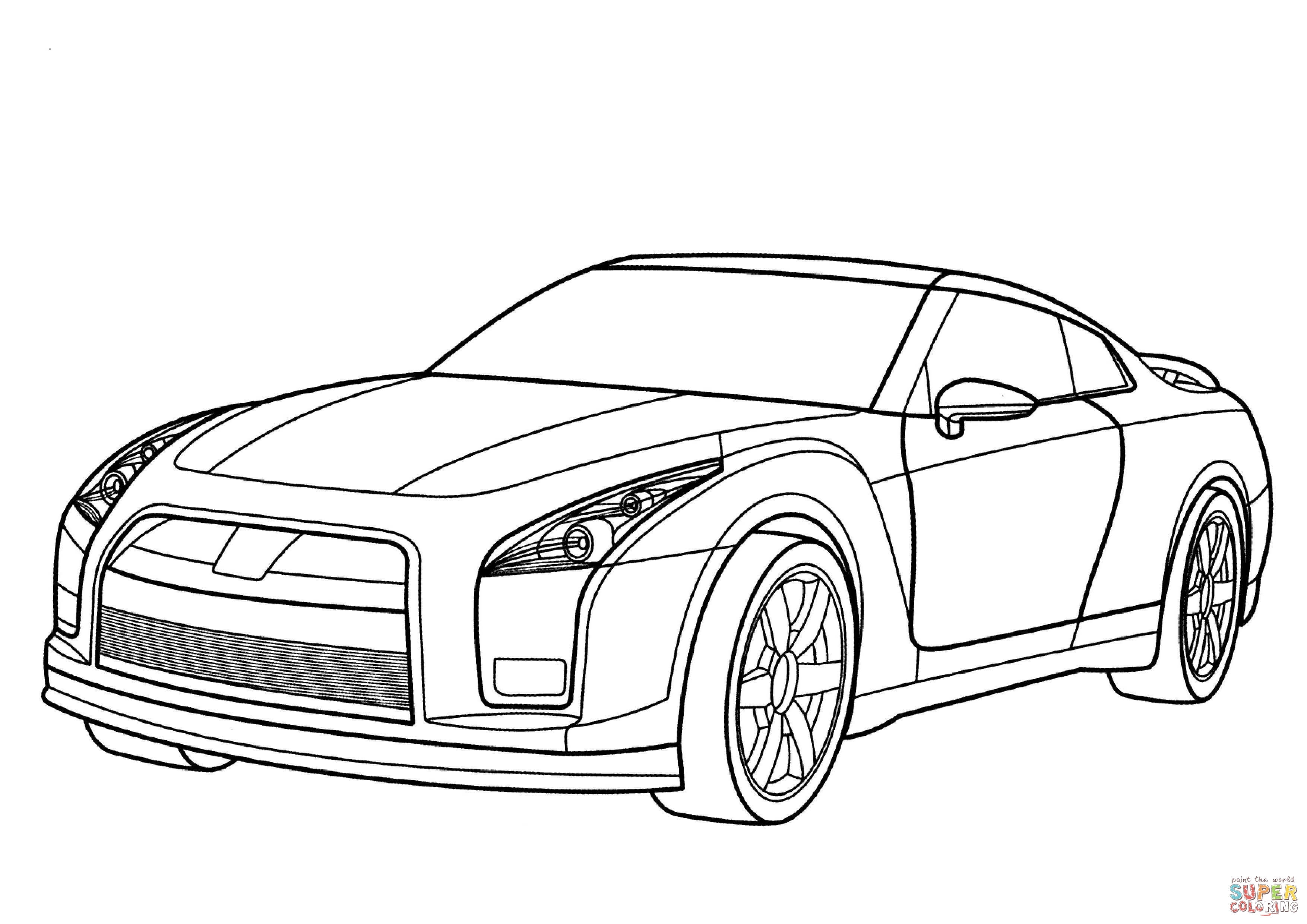 gtr coloring pages - skyline coloring pages printable sketch templates
