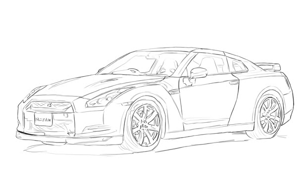 20 gtr coloring pages selection
