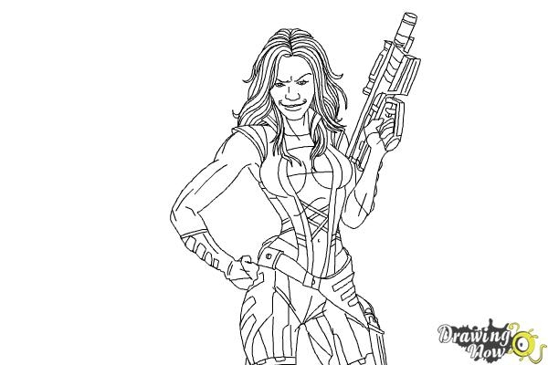 guardians of the galaxy coloring pages - how to draw gamora from guardians of the galaxy